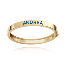 Load image into Gallery viewer, Enamel Personalized Bangle