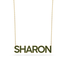 Load image into Gallery viewer, Custom Enamel Name Necklace