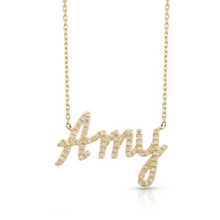 Load image into Gallery viewer, Diamond Pave Custom Name Necklace