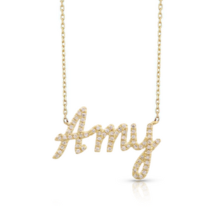 Diamond Pave Custom Name Necklace