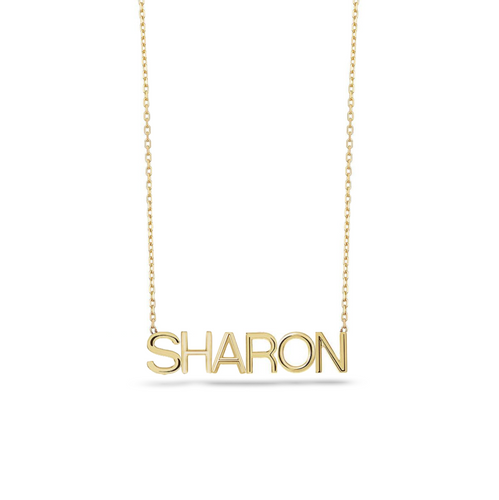 Single Name Necklace