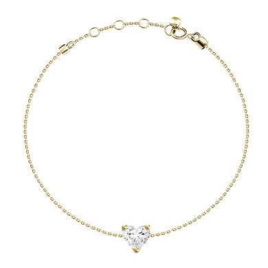 0.4ct Heart Diamond Dainty Bracelet