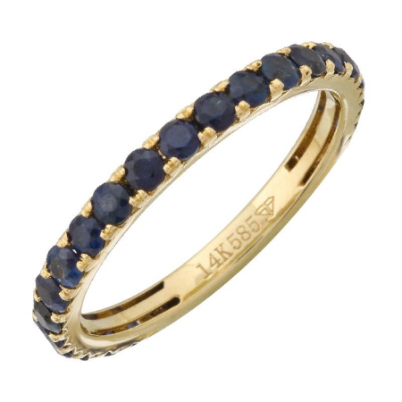 Gemstone Sapphire Stackable Eternity Ring