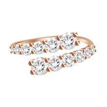 Load image into Gallery viewer, Graduated Diamond Wrap Ring