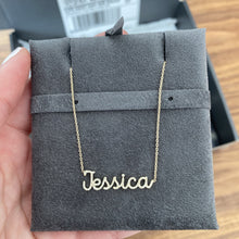 Load image into Gallery viewer, Diamond Pave Script Name Necklace