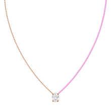 Load image into Gallery viewer, 18k Fancy Diamond Chain/Silk Cord Necklace