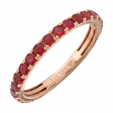 Gemstone Ruby Stackable Eternity Ring