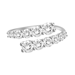 Graduated Diamond Wrap Ring