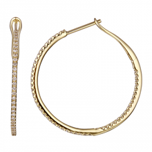 Load image into Gallery viewer, Pave 27mm Diamond Hoops