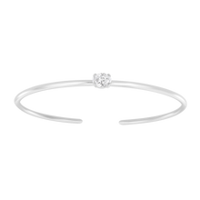 Load image into Gallery viewer, Center Diamond Cuff Bangle