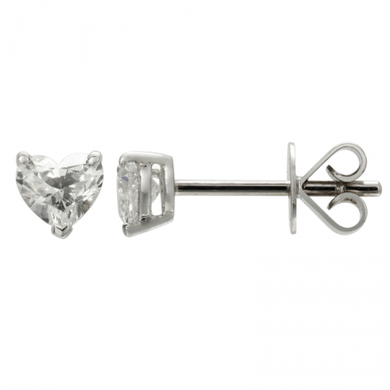 0.5 ct Heart Diamond Studs