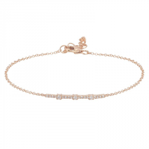Diamond Segments Bar Bracelet