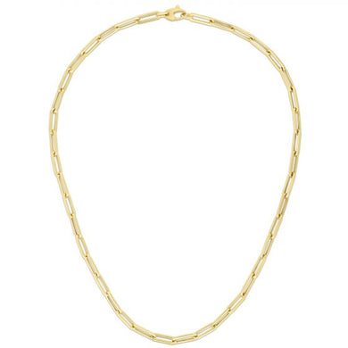 14k 4.2MM Paper Clip Necklace