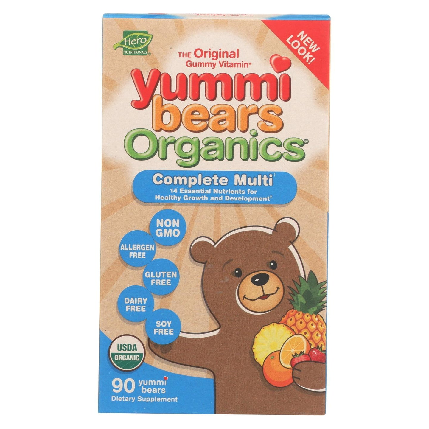 Yummy Bears Organics Multi Vitamin and Mineral - Gummy - Children - 90 Count