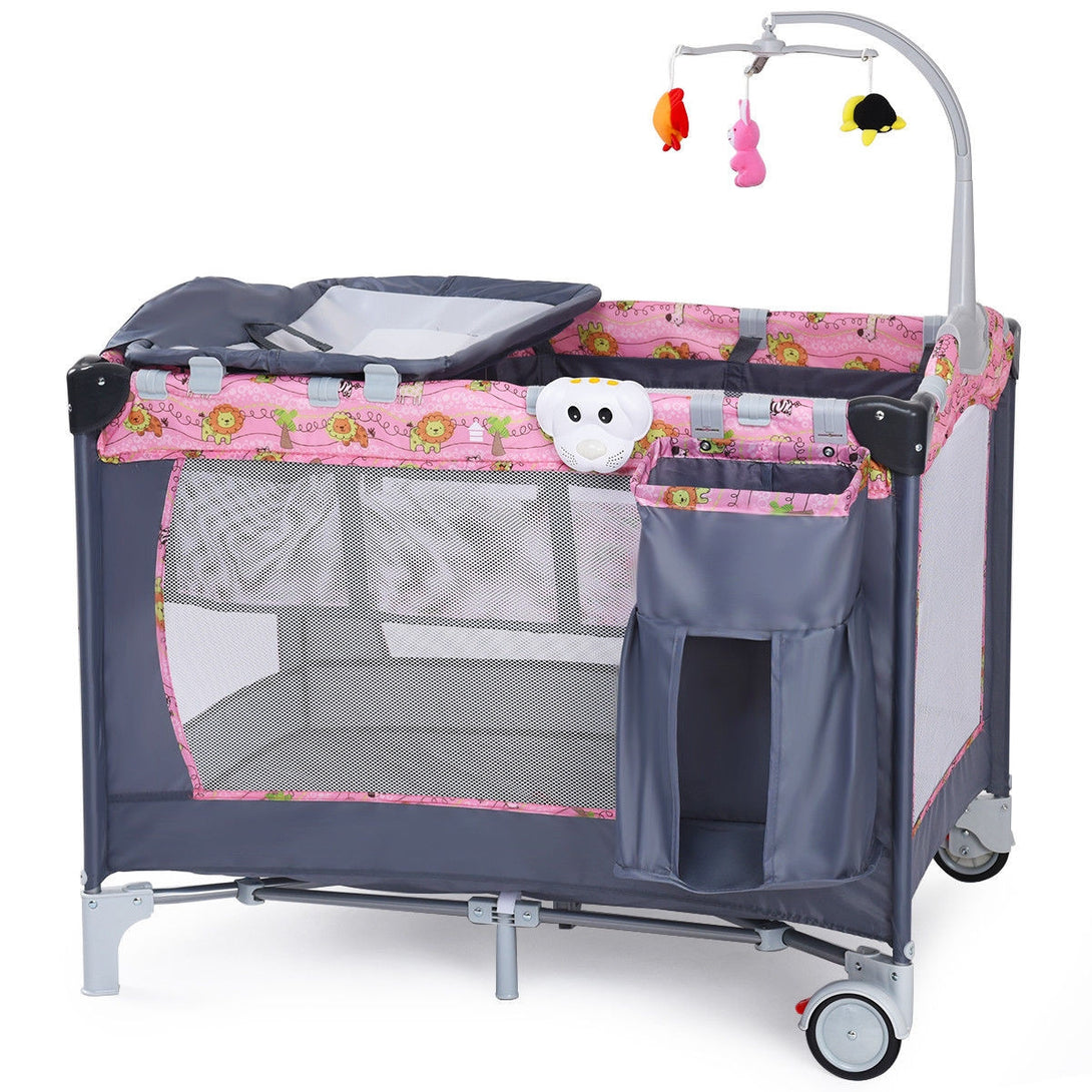 Soople Foldable Two Color Baby Crib Playpen Playard