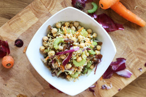 Wild rice and chickpea salad (vegan)