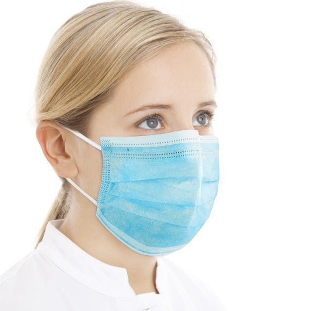 Disposable Face Mask Ear Loop Anti Dust Anti Allergen 3 Layer Filtration SUPER VALUE PACK 100 PCS