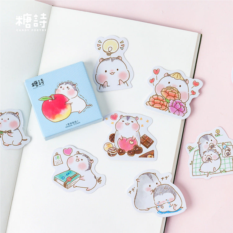 Love Hamster Sticker Pack (45 Pieces)