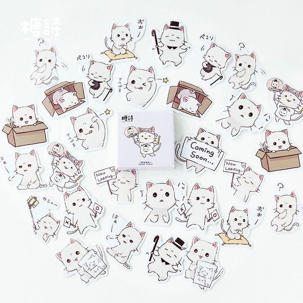 Kawaii Cat Sticker Pack (45 Pieces)