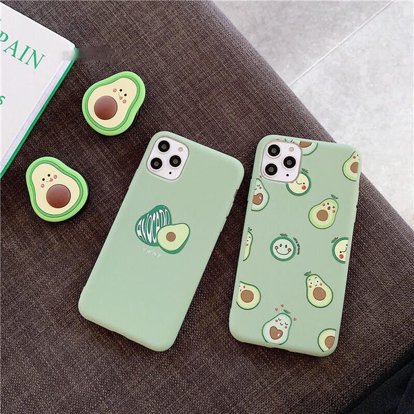 Kawaii Avocado Cases
