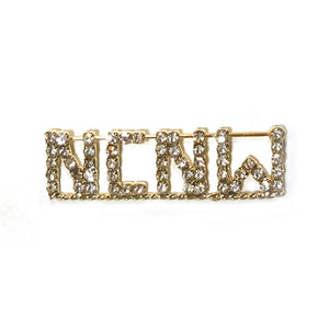 Lapel Pin: NCNW Rhinestone Gold