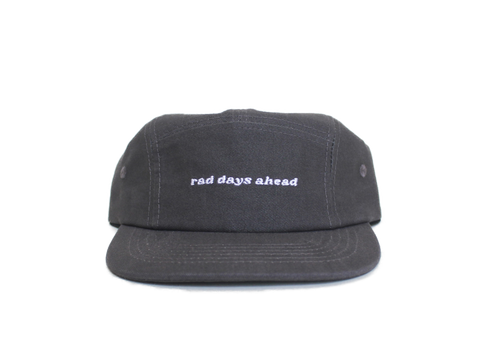 Rad Days Ahead Cotton Five-Panel Hat in Charcoal