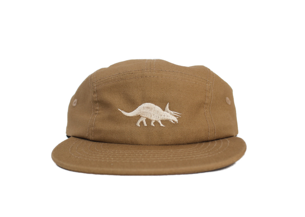Triceratops Cotton Five-Panel Hat in Khaki 1