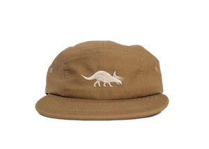 Triceratops Cotton Five-Panel Hat in Khaki