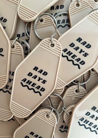 retro rad days ahead keychain