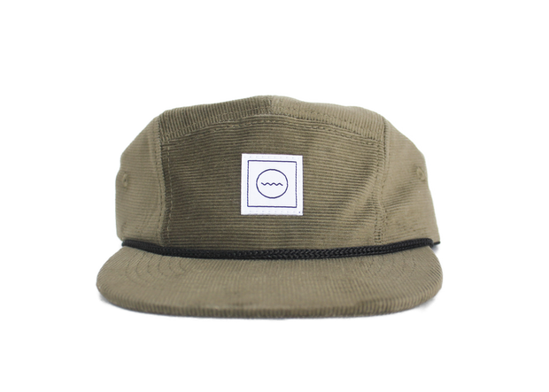 Corduroy Five-Panel Hat in Olive 1