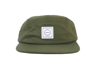 Waterproof Five-Panel Hat in Moss