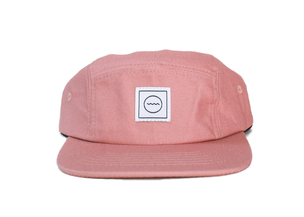 Cotton Five-Panel Hat in Blush 1