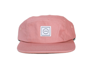 Cotton Five-Panel Hat in Blush