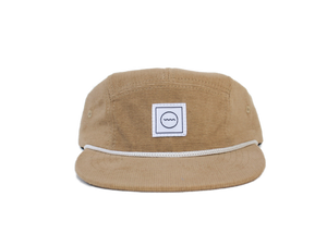 Corduroy Five-Panel Hat in Stone