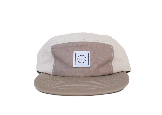 Cotton Five-Panel Hat in Sand 1