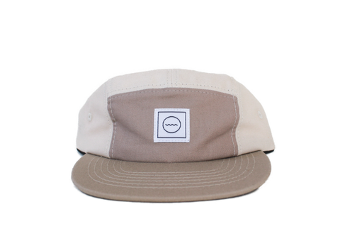 Cotton Five-Panel Hat in Sand