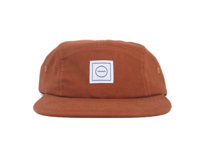 Cotton Five-Panel Hat in Rust