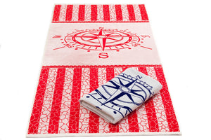 100% cotton beach towel red neptune