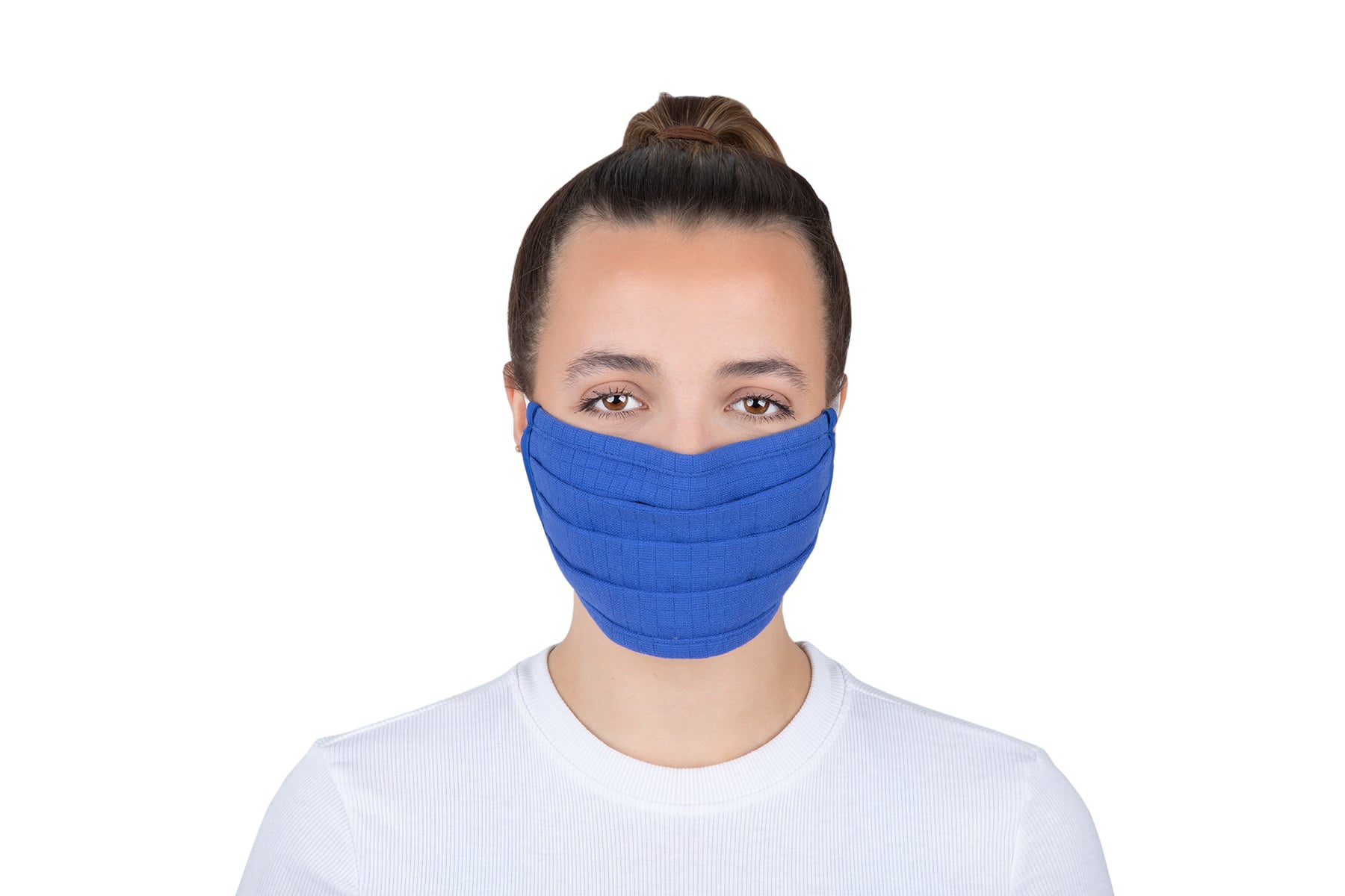 Royal blue cotton face covering