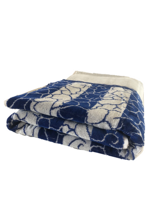 100% cotton beach towel blue neptune