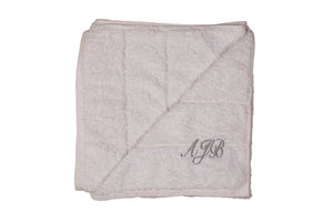 Personalised 100% cotton white bath towel