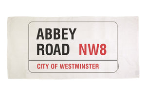Cotton towelling london Abbey Road street sign beach towel