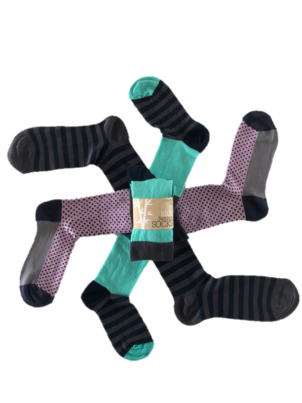 Supersoft bamboo socks tri pack