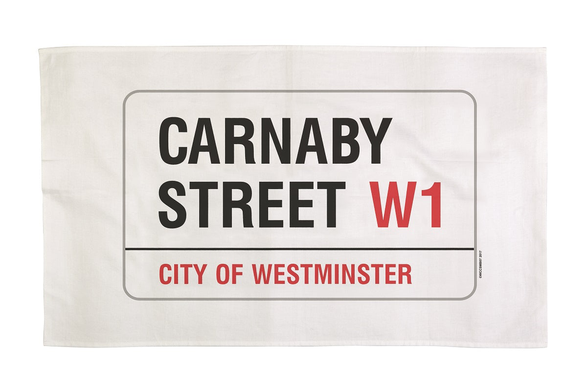 Cotton london carnaby street tea towel