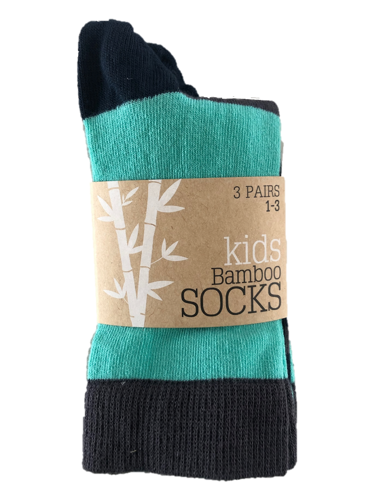 Kids supersoft bamboo socks tri pack