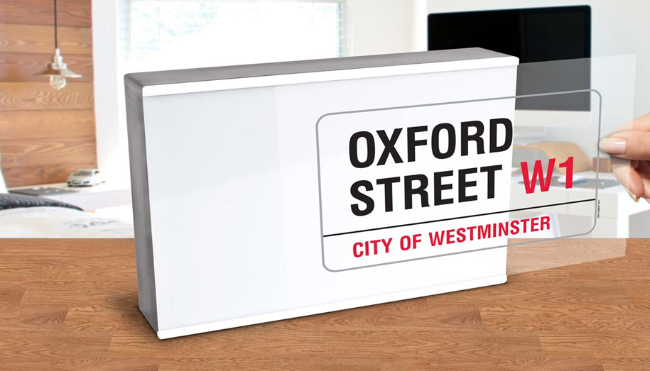 Light Box Oxford Street London Street Sign