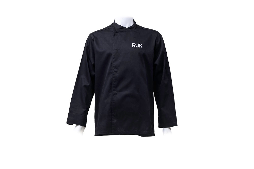 Personalised black chefs cooks jacket