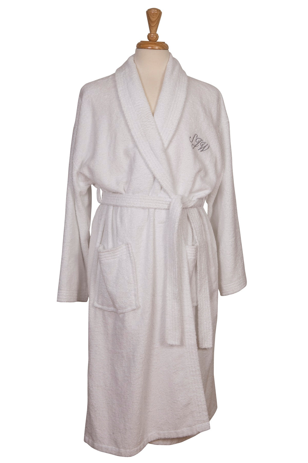 Personalised cotton towelling robe gown one size