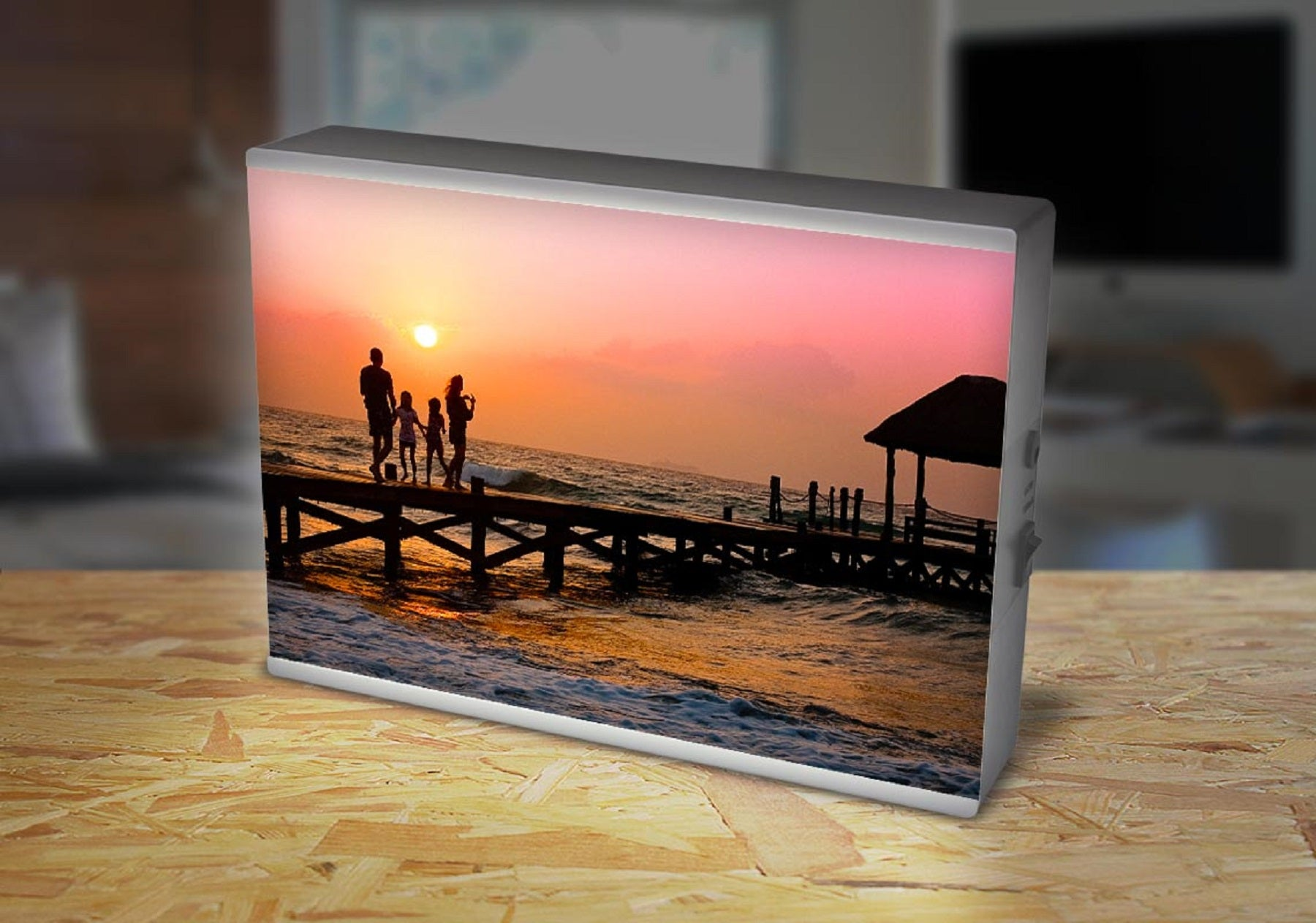 Personalised light box gift