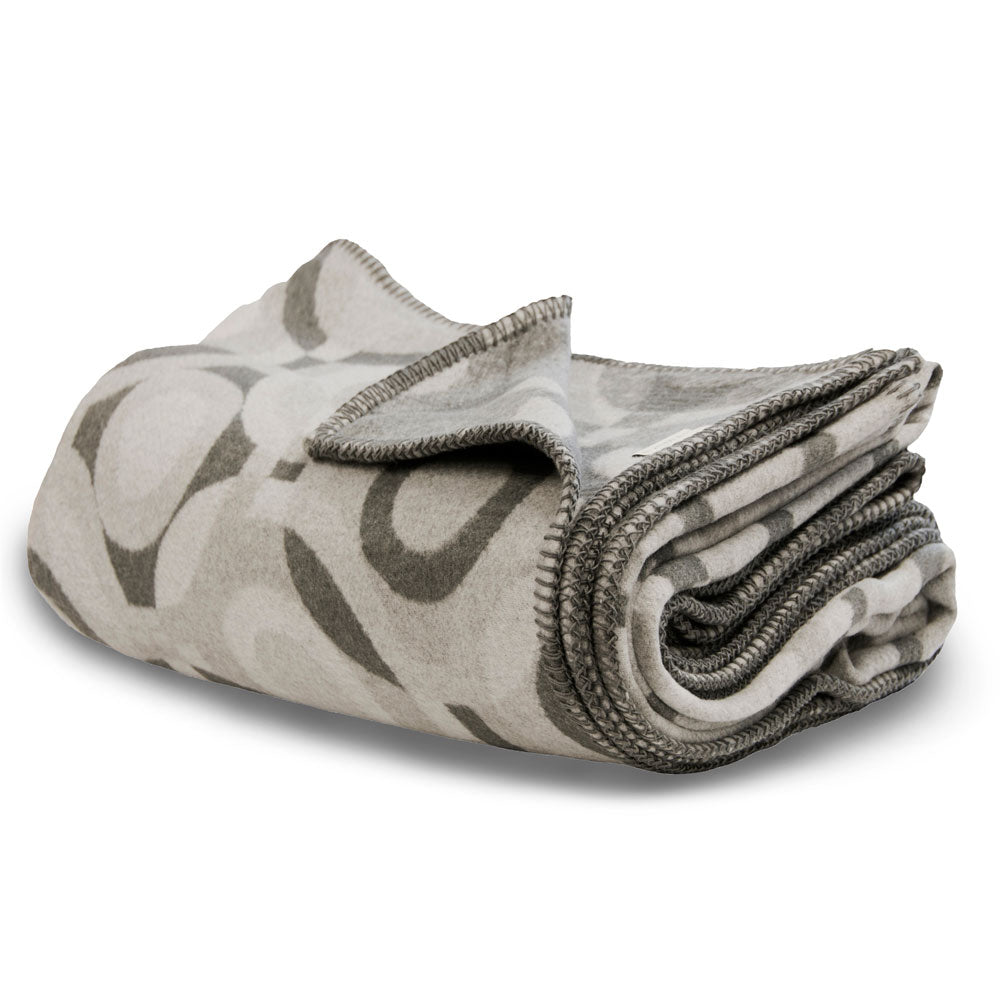 recycled cotton blanket throw grey